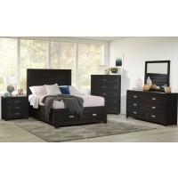 Altamonte King 3pc Set- Bed, Dresser, Mirror - Dark Charcoal