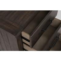 Madison County 4pc King Barn Door Bedroom: Bed, Dresser, Mirror, Nightstand