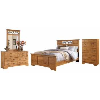 Bittersweet - Queen Panel Bed with Mirrored Dresser and Chest