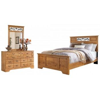 Bittersweet - Queen Panel Bed with Mirrored Dresser