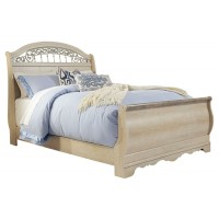 Catalina - Queen Sleigh Bed with Mirrored Dresser