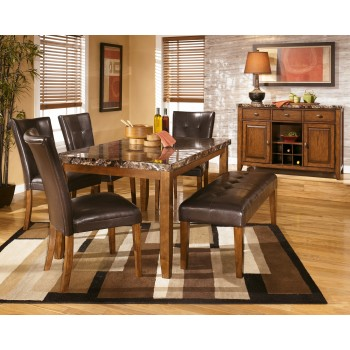 Lacey - Dining Table and 4 Chairs and Bench