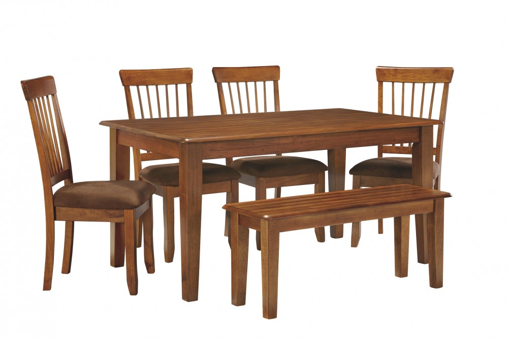 Berringer - Dining Table and 2 Chairs and Bench
