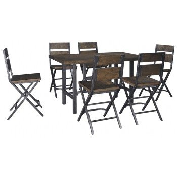 Kavara - Counter Height Dining Table and 6 Barstools