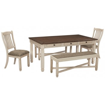 Bolanburg - Dining Table and 2 Chairs and 2 Benches