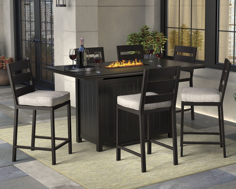 Perrymount - 7-piece Outdoor Dining Package