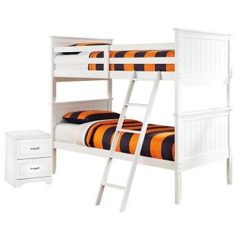 Lulu - Twin over Twin Bunk Bed with Nightstand