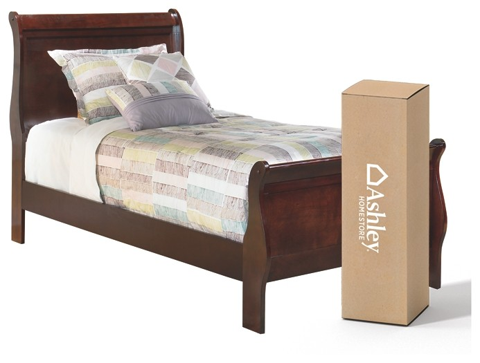 Alisdair - Twin Sleigh Bed with 8