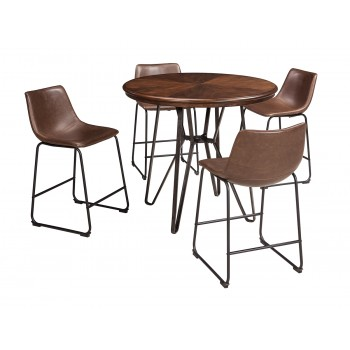 Centiar - Counter Height Dining Table and 4 Barstools