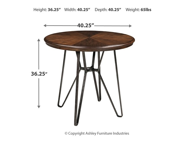 Centiar Counter Height Dining Table And 4 Barstools