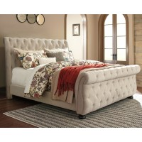 Willenburg - California King Upholstered Sleigh Bed