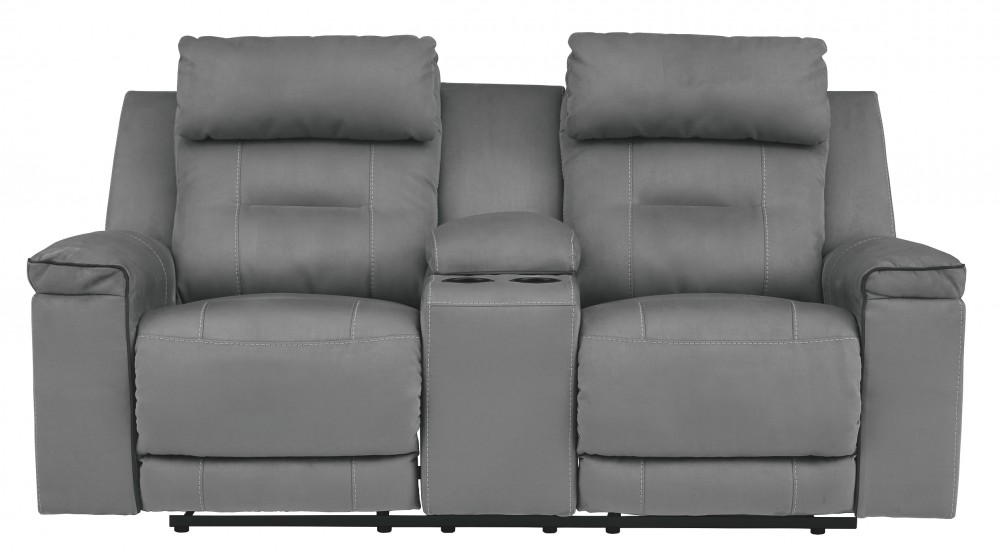 Trampton - Trampton Power Reclining Loveseat with Console