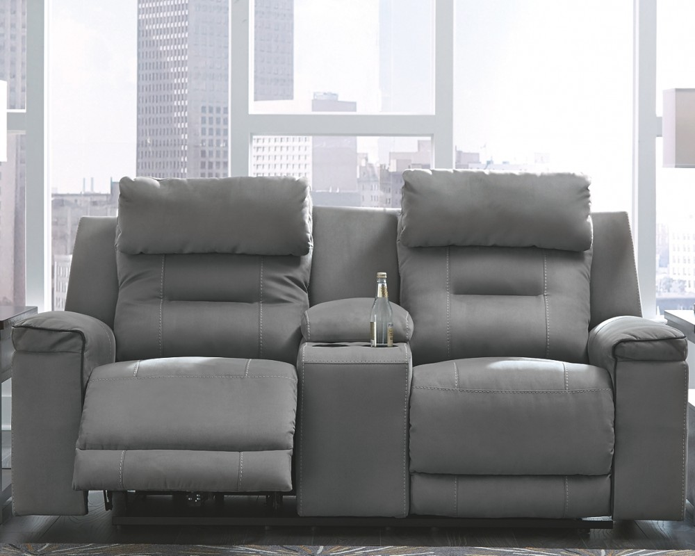 Trampton Trampton Power Reclining Loveseat With Console