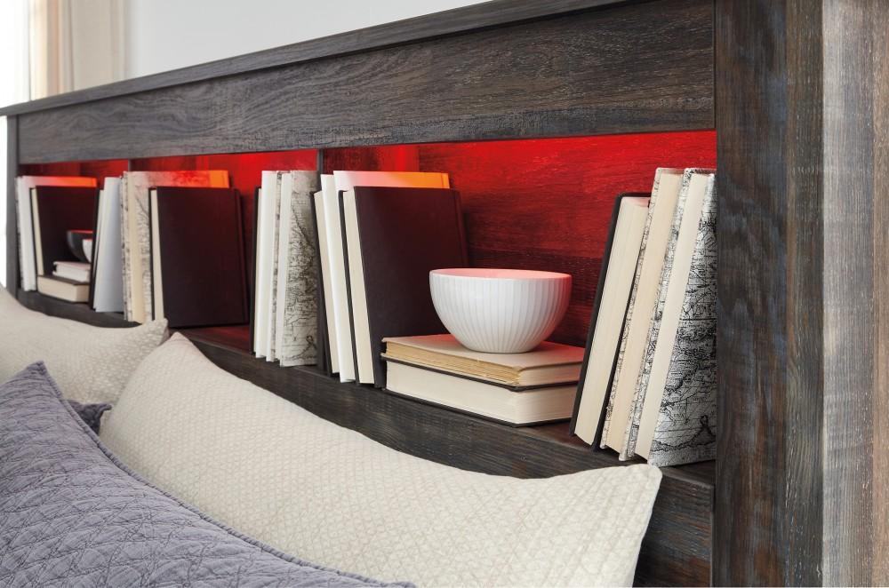 Drystan - Queen/Full Bookcase Headboard