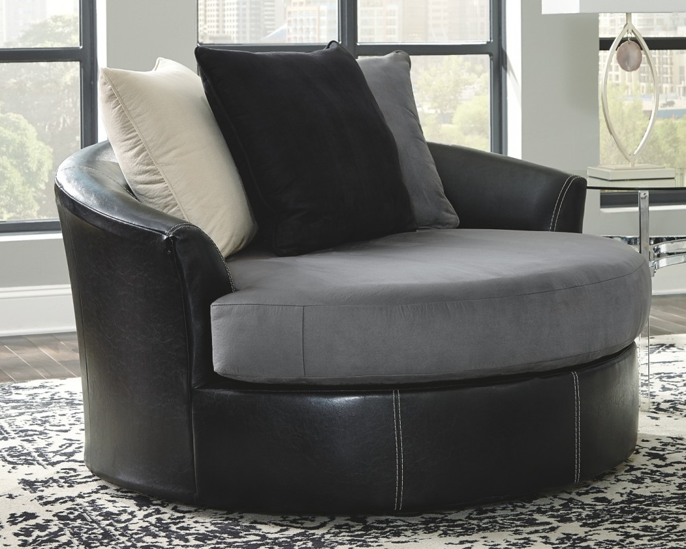 Jacurso Oversized Swivel Accent Chair 9980421 Living