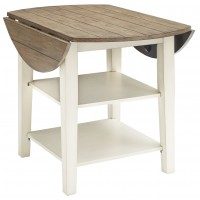 Bardilyn - Round DRM Drop Leaf Table