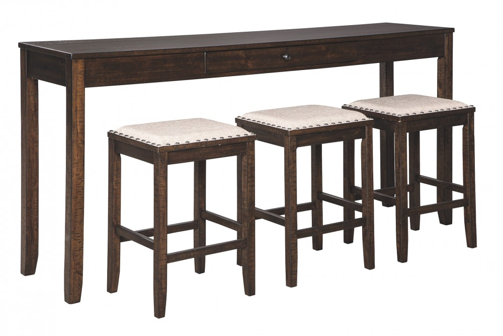 Rokane - Rokane Counter Height Dining Room Table and Bar Stools (Set of 4)