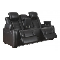 Party Time - Party Time Power Reclining Loveseat with Console