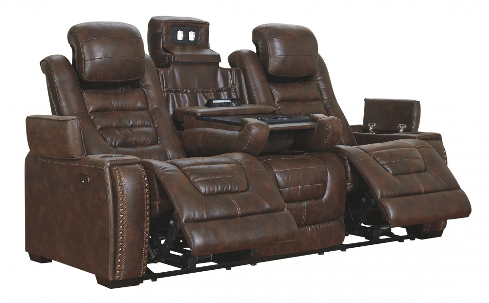 Game Zone - PWR REC Sofa with ADJ Headrest