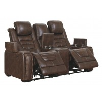 Game Zone - Game Zone Power Reclining Loveseat with Console