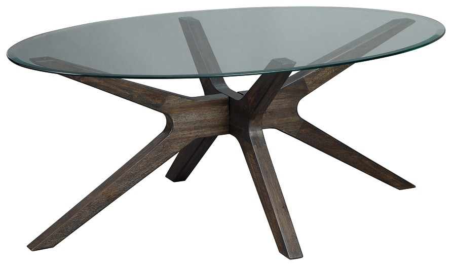 Zannory - Oval Cocktail Table