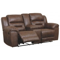 Stoneland - Stoneland Reclining Loveseat with Console
