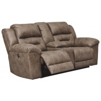 Stoneland - Stoneland Power Reclining Loveseat with Console