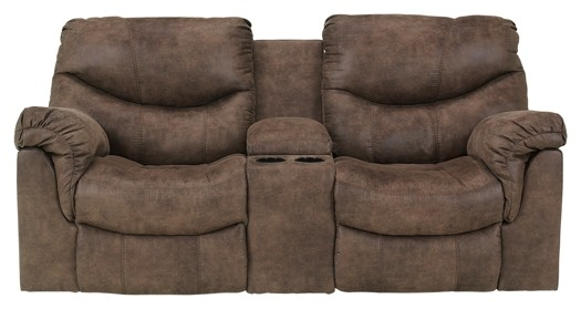 Alzena - Alzena Reclining Loveseat with Console