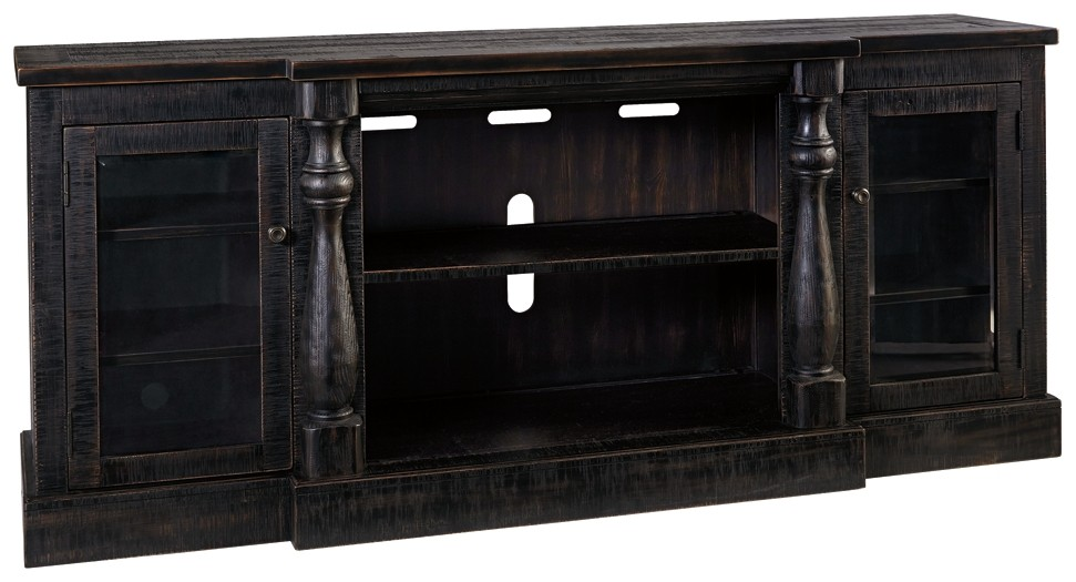 Mallacar - XL TV Stand w/Fireplace Option