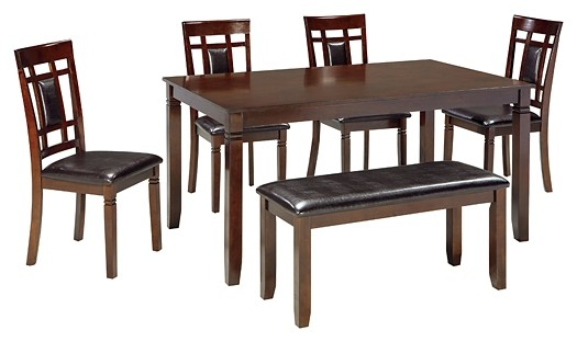 Bennox - Bennox Dining Room Table and Chairs with Bench (Set of 6)