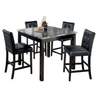 Maysville - Maysville Counter Height Dining Room Table and Bar Stools (Set of 5)