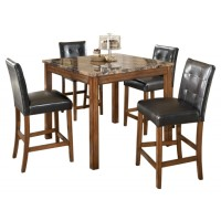 Theo - Theo Counter Height Dining Room Table and Bar Stools (Set of 5)