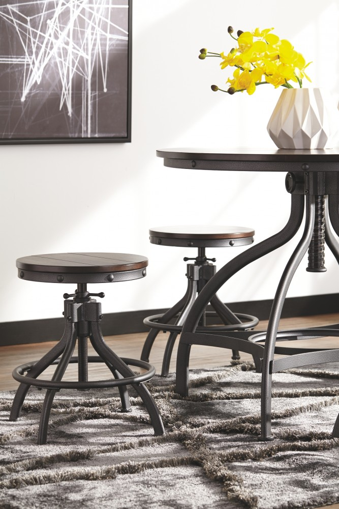 Stupendous Odium Odium Counter Height Dining Room Table And Bar Stools Set Of 5 Andrewgaddart Wooden Chair Designs For Living Room Andrewgaddartcom