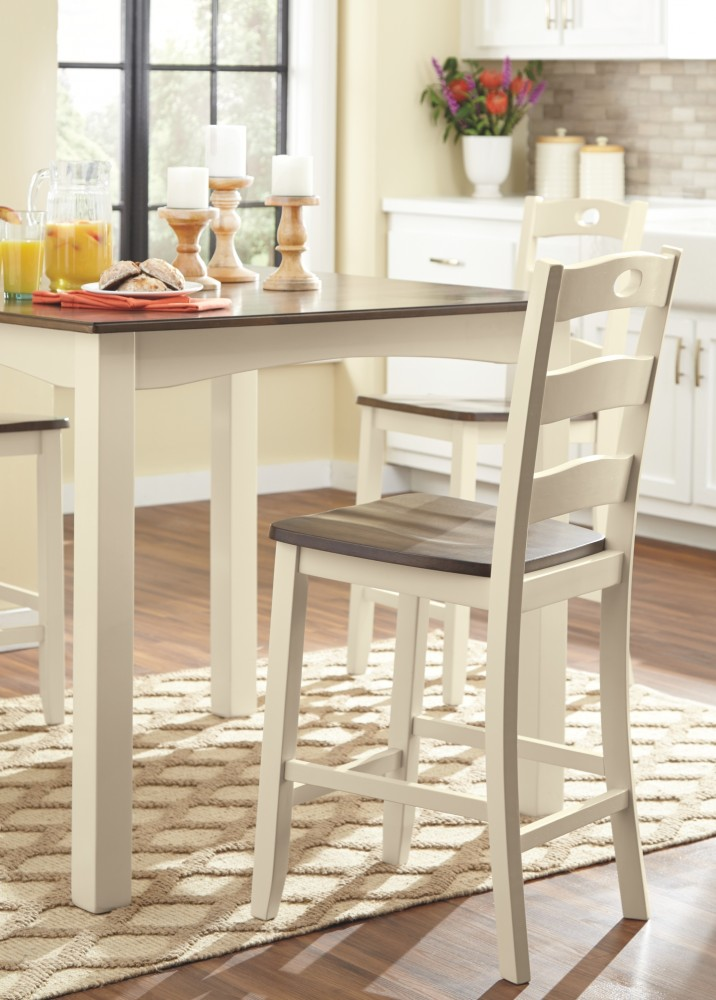 Woodanville Square Counter Tbl Set 5 Cn D335 223 Dining Room Groups Above And Beyond