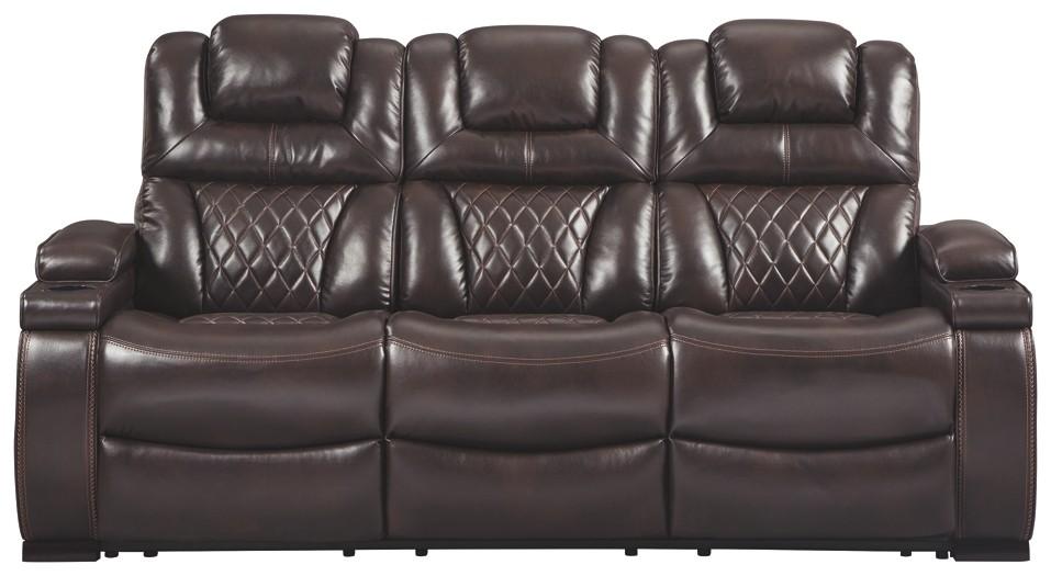 Warnerton - PWR REC Sofa with ADJ Headrest