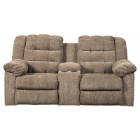 Workhorse - Workhorse Reclining Loveseat with Console