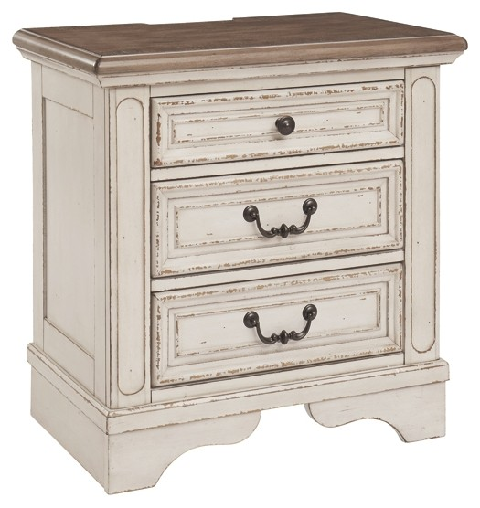 Realyn - Three Drawer Night Stand