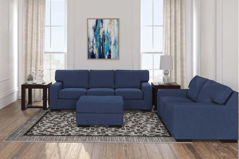 Blue Nuvella Sofa & Loveseat