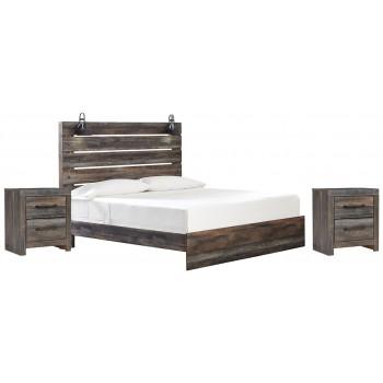 Drystan - Drystan King Bed with 2 Nightstands
