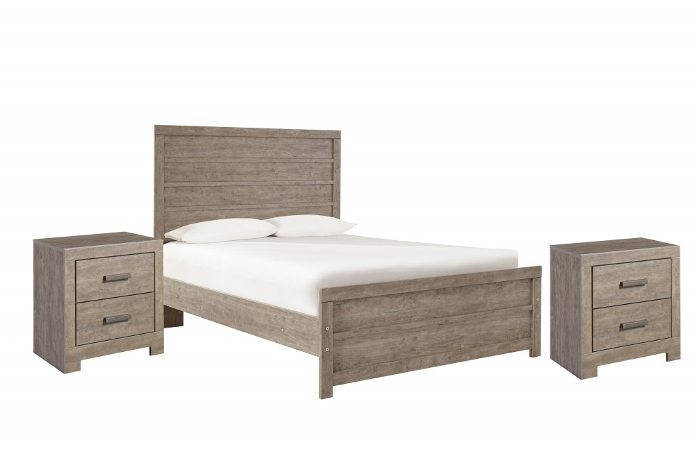 Culverbach - Full Panel Bed with 2 Nightstands