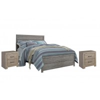 Culverbach - Culverbach Panel Bed with 2 Nightstands
