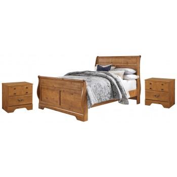 Bittersweet - Queen Sleigh Bed with 2 Nightstands
