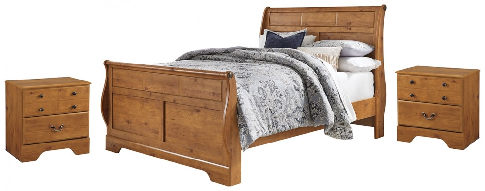 Bittersweet - Queen Sleigh Bed with 2 Nightstands