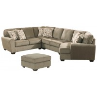 Patola Park - 4-Piece Sectional with Ottoman