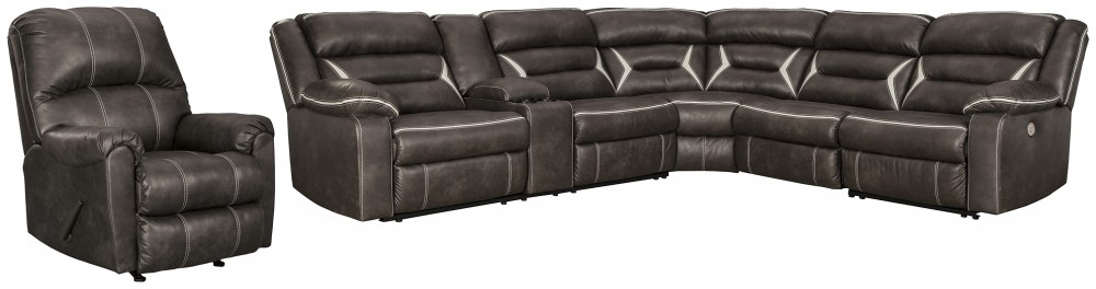 Kincord - 4-Piece Sectional with Recliner