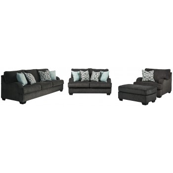 Charenton - 3-Piece Upholstery Set with Ottoman