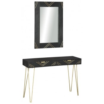 Coramont - Console Table w/Mirror (2/CN)