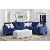 Melanie 2 PC Sectional Blue