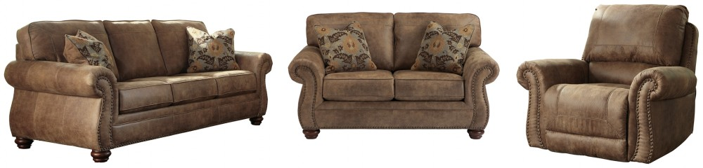 Larkinhurst - Sofa, Loveseat and Recliner
