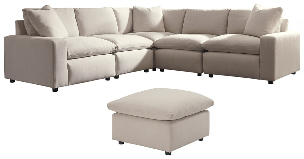 Savesto - 5-Piece Sectional with Ottoman